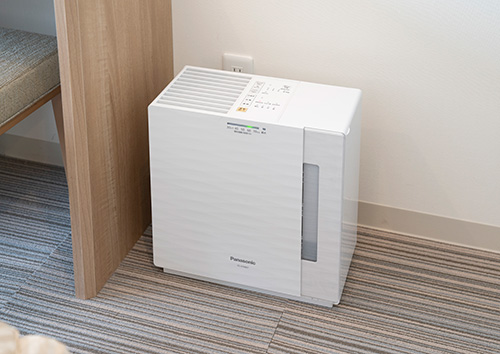 Air purifier with humidifier function