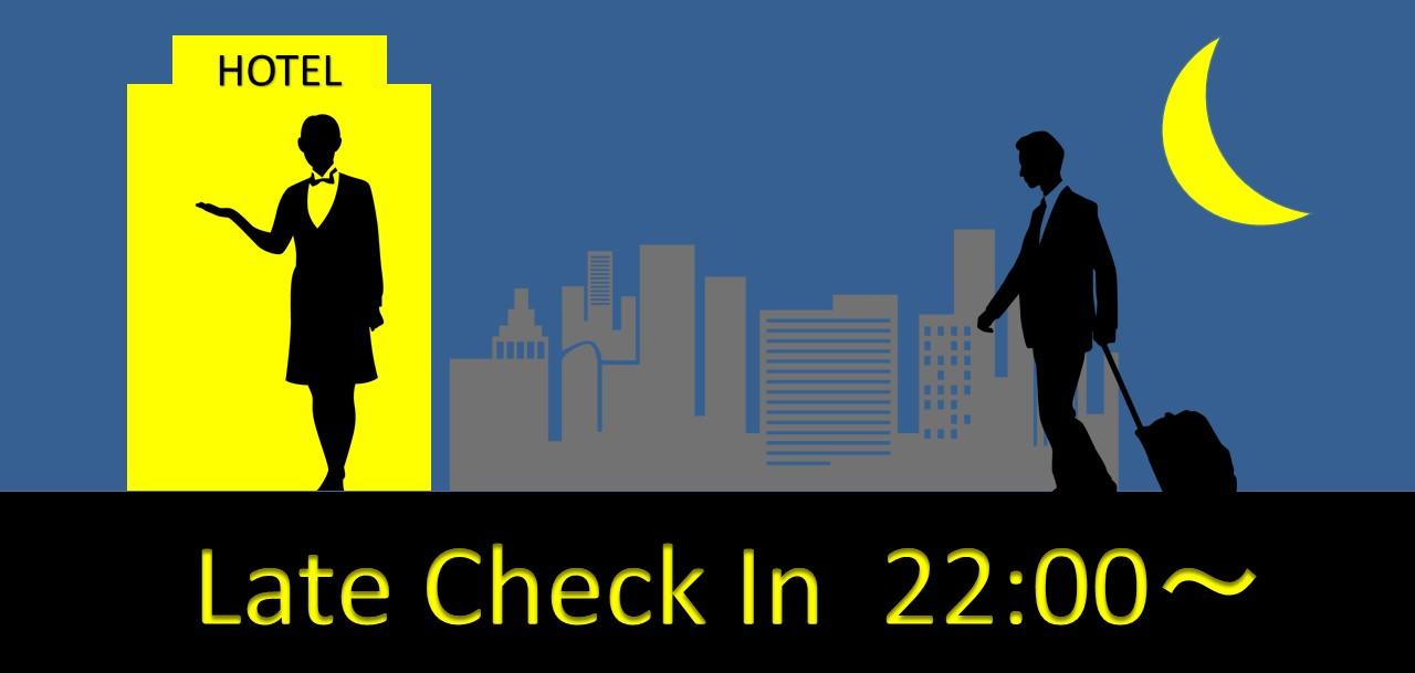 【レイトチェックイン22時以降】【素泊り】22時以降のチェックインでお得に泊まろう!